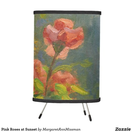 Pink Roses on lamp