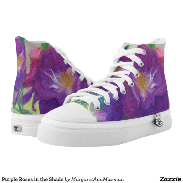 Purple Roses on high tops