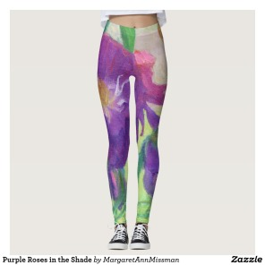 Purple Roses on leggings