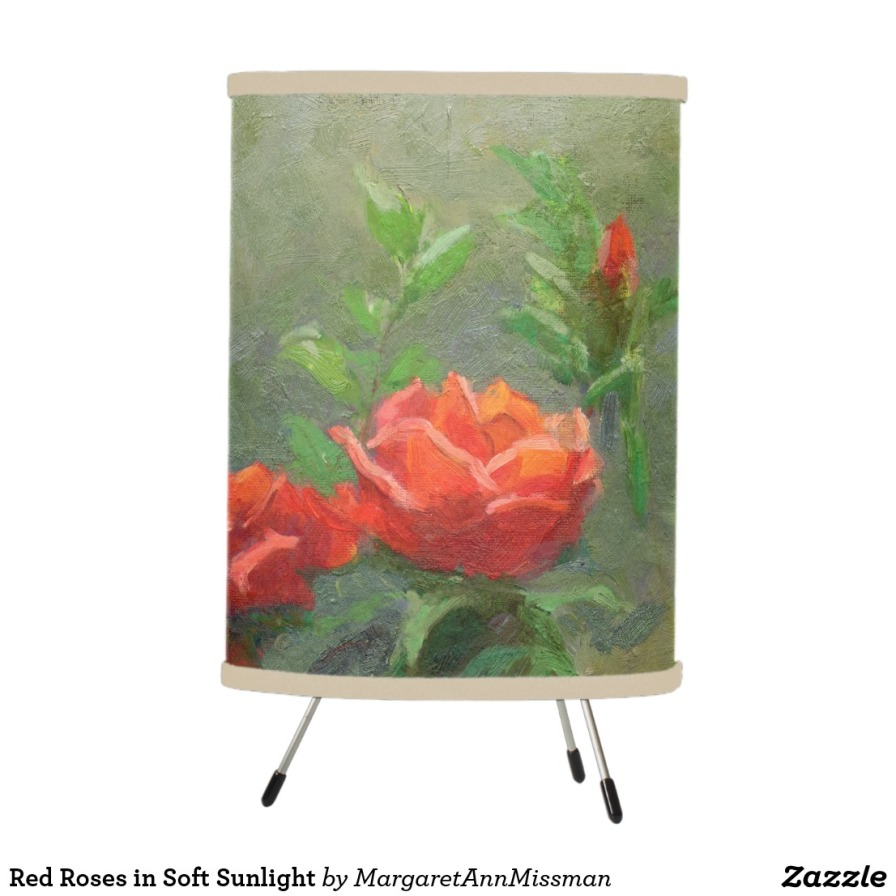 Red Roses on lamp
