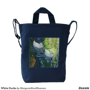 White Ducks on duck bag